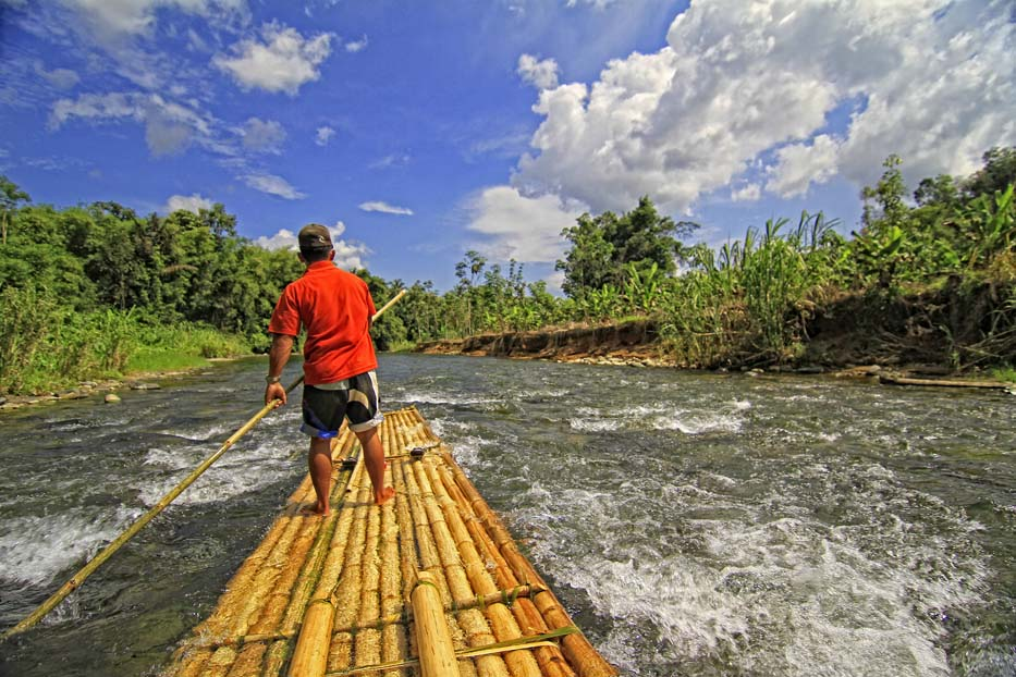 South Borneo Bamboo Rafting & Floating Market